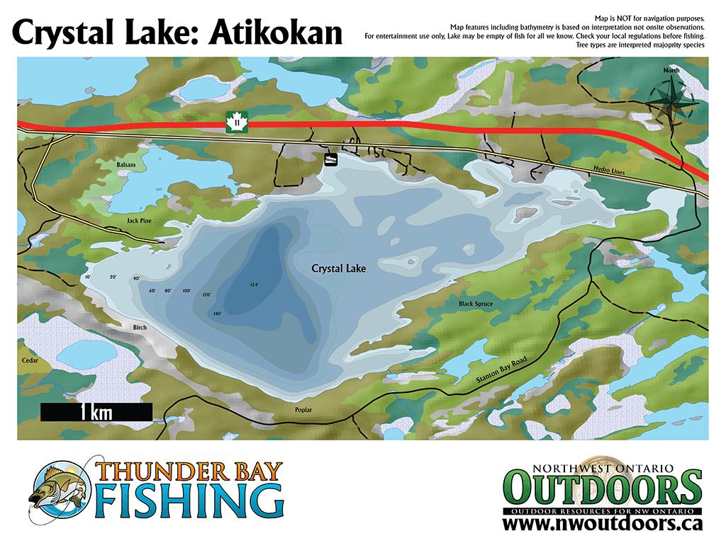 Crystal Lake Bathymetry Map – DIGITAL | Northwest Ontario Out Doors